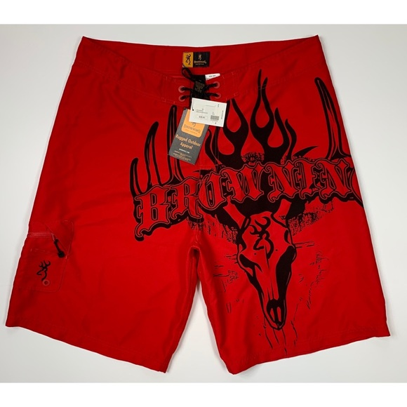 Browning Other - Browning Men's Red Board Shorts NWT Size 42W